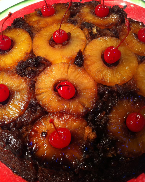GRILLED PINEAPPLE UPSIDE DOWN CAKE with TROPICAL RUM SAUCE | Flickr ...
