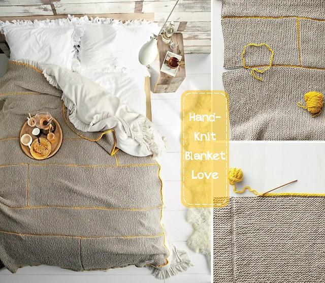 Hand-knit blanket martha stewart