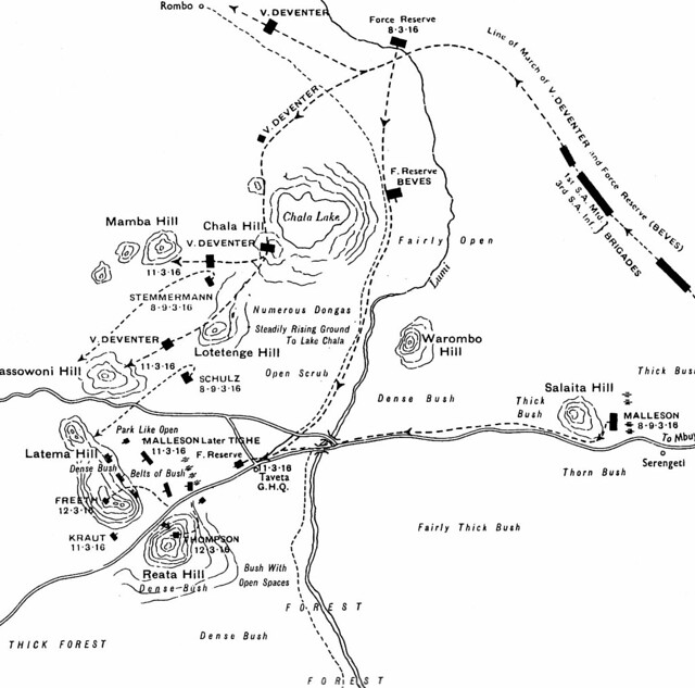 Sketch of final British attack on Latema-Reata