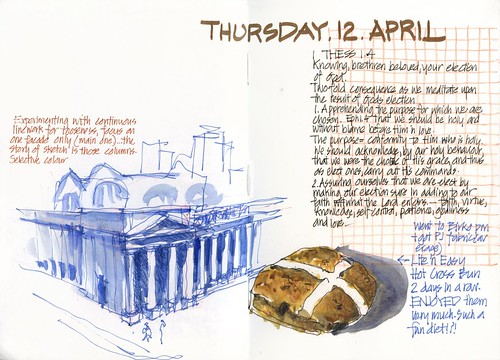120412 Another hot corss bun and some architectural experimenting by borromini bear