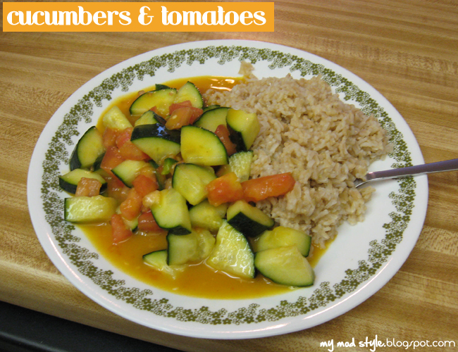 Meal Cucumbers & Tomatoes