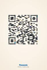 Panasonic QR code ad