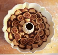 Pecan Bourbon Cinnamon Roll Monkey Bread