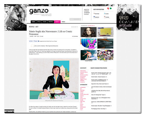 nerosunero interviewed by ganzo mag (LA) by nerosunero