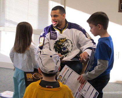 Read Across America with Manchester Monarch Player 14
