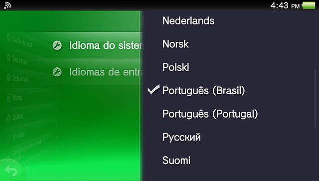 Como mudar o idioma do PS Vita