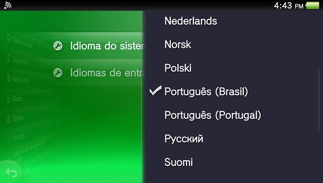 Como mudar o idioma do PS Vita