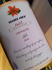2010 Trader Joes Petit Reserve Grenache