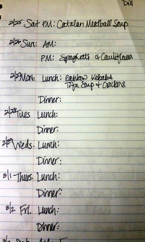 Failed Menu Plan