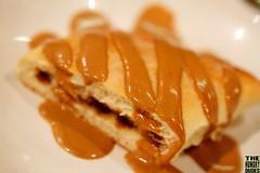 meal(0.0), belgian waffle(0.0), produce(0.0), breakfast(1.0), sweetness(1.0), dulce de leche(1.0), food(1.0), dish(1.0), dessert(1.0), cuisine(1.0), danish pastry(1.0),