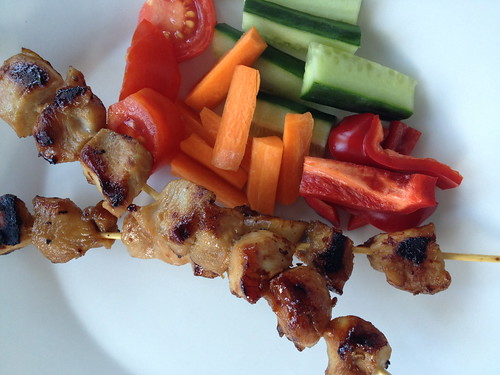 Marinated Chicken Sticks - ready to eat