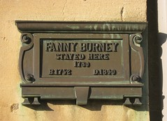 Photo of Frances Burney bronze plaque