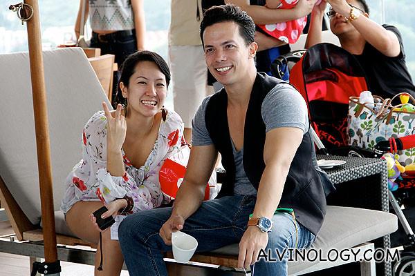 Blogger Christine and her boyfriend