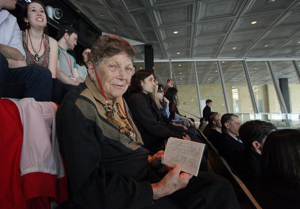 Alumna Frances Shloss (B.Arch. '45) shares her sketch of the auditorium.