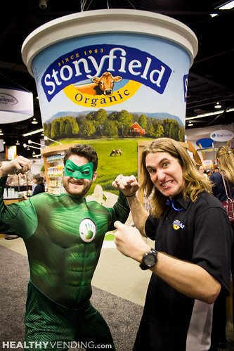 Captain HUMAN visits Natural Products Expo West - HUMAN Healthy Vending