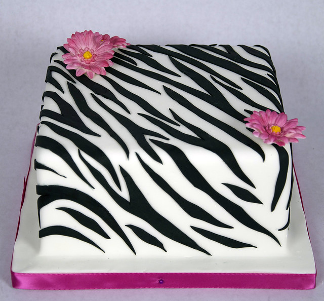 D7007 - designer zebra print cake toronto Flickr - Photo ...