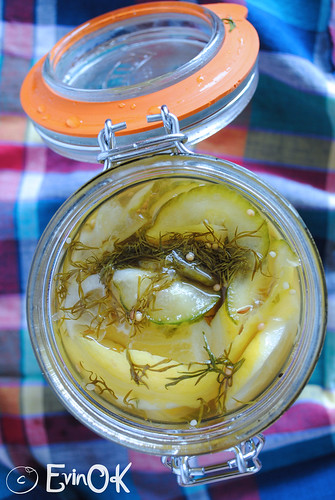 Pickles Cucumber Slices and Lemon