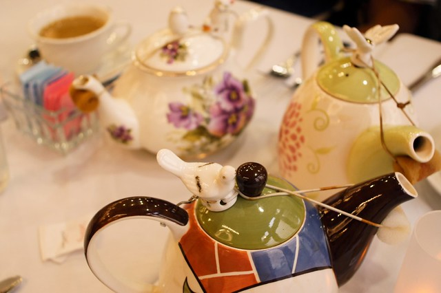 Pretty teapots gathering