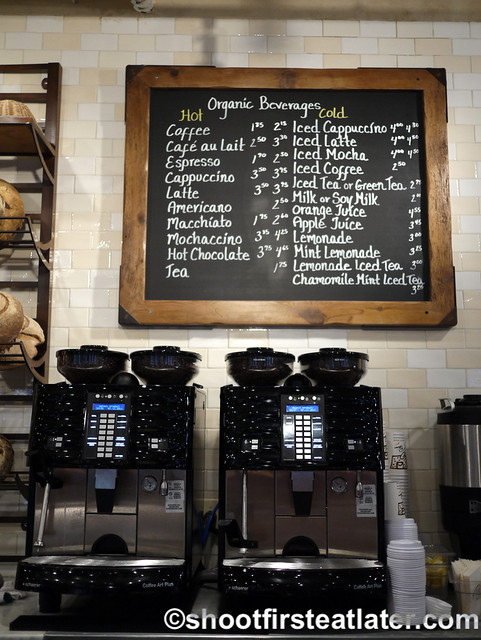 Le Pain Quotidien - coffee menu
