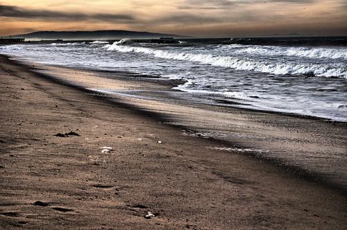 [フリー画像素材] 自然風景, ビーチ・海岸, 朝焼け・夕焼け, 風景 - アメリカ合衆国 ID:201203301200