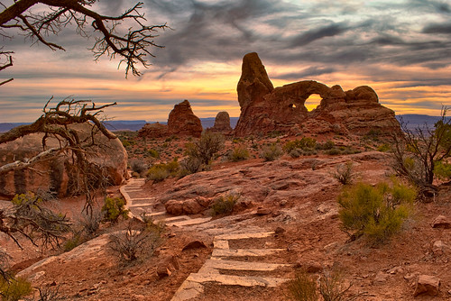 sunset southwest utah desert arches redrocks moab archesnationalpark turretarch nikon1855mm nikond80