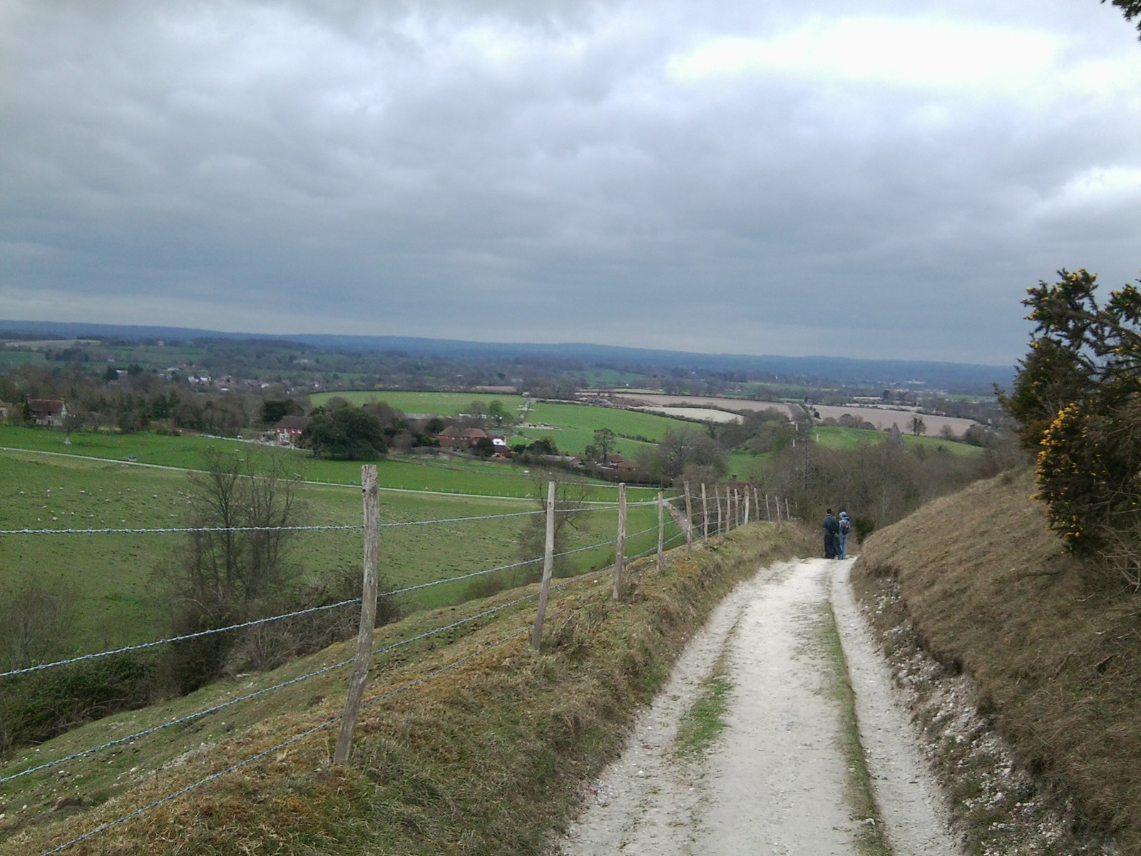 Coming down. Hassocks to Lewes