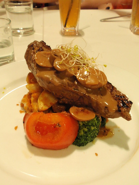 Rib Eye Steak With Mushroom Sauce @ Harvest Inn Cafe | Flickr - Photo ...