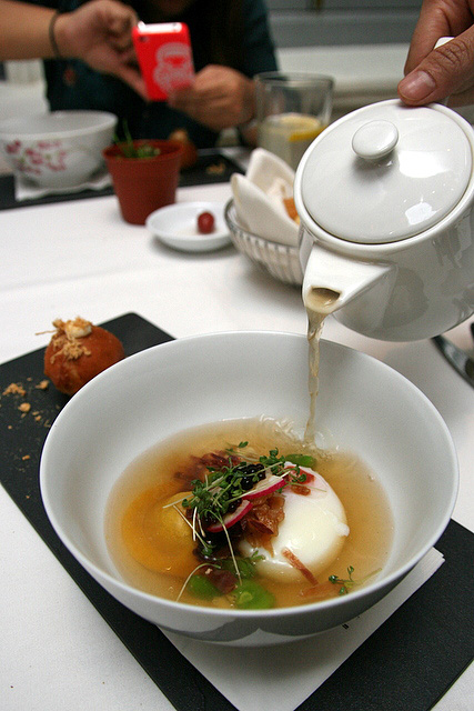 2nd Course FROM THE HAWKER: pork rib soup, pork bun & red radish