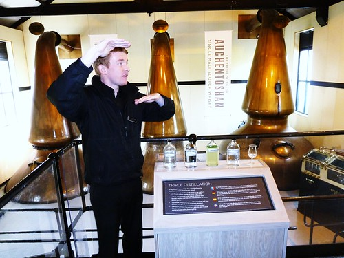 Tour Guide at Auchentoshan Distillery, Scotland