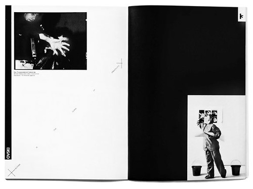 Double page spread, catalogue for Lives exhibition, 1979. Design Barney Bubbles.