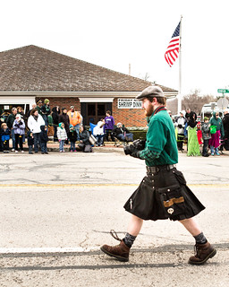 Scottish photographer at the St. Patrick's Day Parade