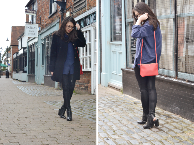 Daisybutter - UK Style and Fashion Blog: what i wore, pop basic sunday collection, celine trio mini red, ootd, british fashion blogger