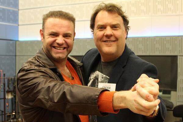 Joseph Calleja and Bryn Terfel at the BBC Radio 3 studios © BBC, 2014
