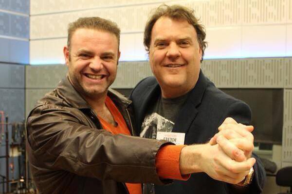 Joseph Calleja and Bryn Terfel at the BBC Radio 3 studios © BBC, 2014