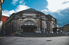 Usher Hall, Edinburgh, Scotland  The Usher Hall is a concert hall, situated on Lothian Road, in the west end of Edinburgh, Scotland. It has hosted concerts and events since its construction in 1914 and can hold approximately 2,900 people in its recently restored auditorium, which is well loved by pe...