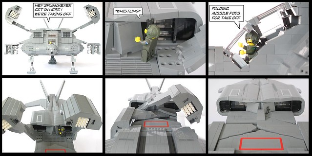 Aliens Dropship Folding Missile Pods