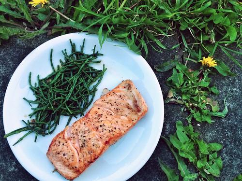 Pan-fried Salmon and Samphire