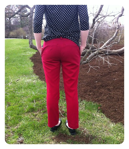Red Pants Back