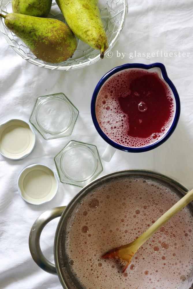 Birne Rhabarber Marmelade by Glasgefluester 2 klin