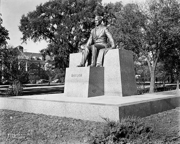 Judge R.E.B. Baylor Statue, Baylor University, Waco, TX.