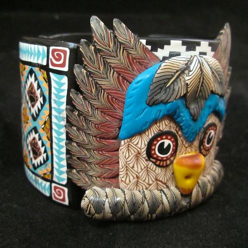 Owl Kachina Tile Bangle