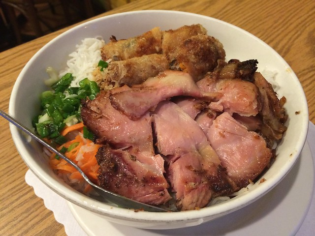 Five spice roasted chicken and imperial rolls - Sunflower Vietnamese Restaurant