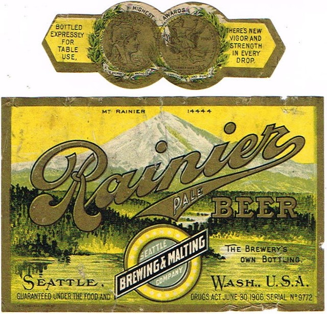 Rainier-Pale-Beer-Labels-Seattle-Brewing-amp--Malting-Co-Rainier-Brewery