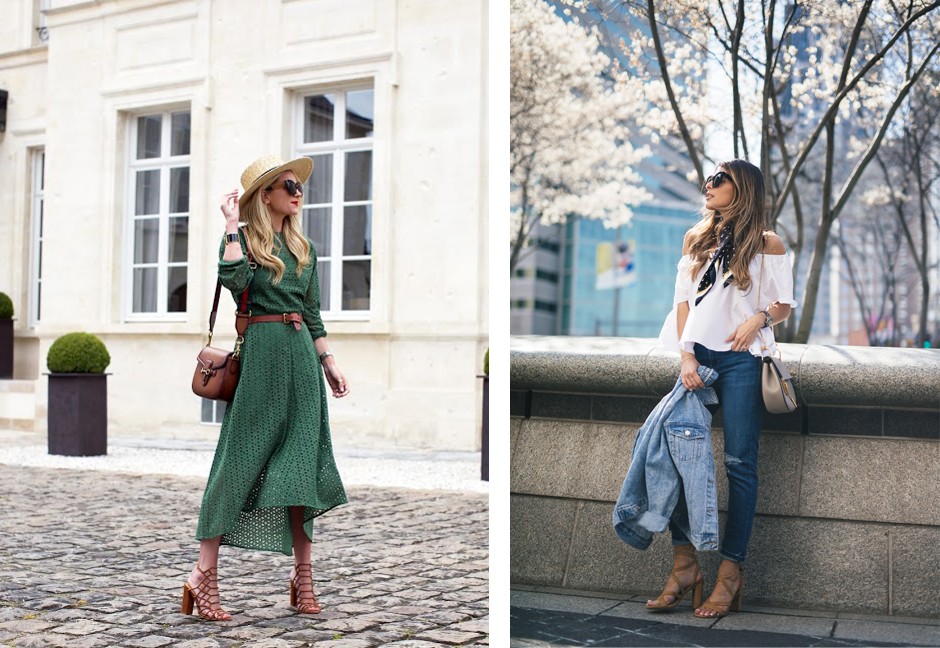 feminine-outfits-with-block-heels