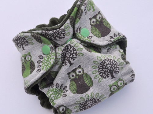 Bumstoppers Newborn Earth Owls Fitted