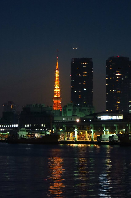 crescent above Tsukiji