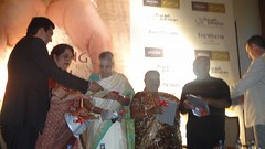 Chef Sanjeev Kappor and Chef Santosh at the book lauch