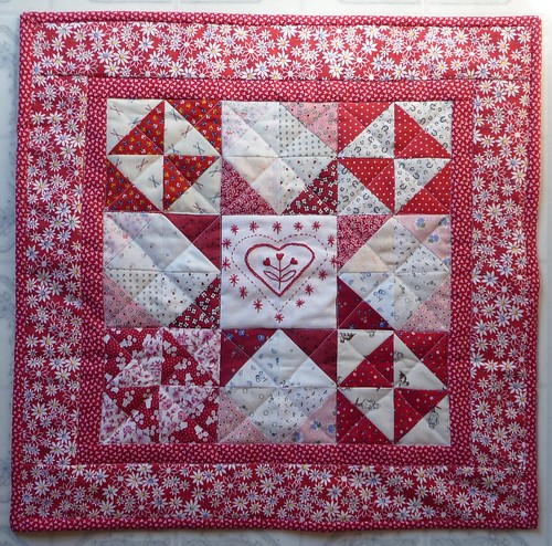 February Quilt:  Broken Dishes