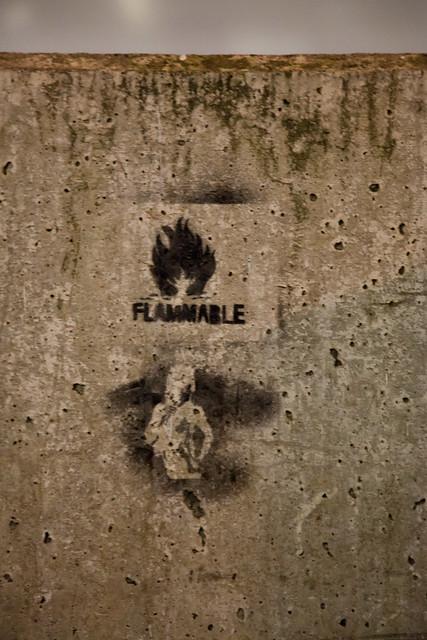 Header of flammable