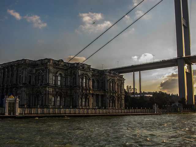 Bridge Over Bosphorus at Sunset